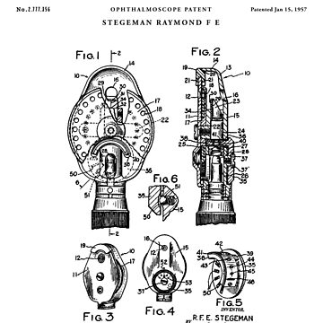 Ophthalmoscopy patent drawing by Vintago
