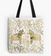 Schwedische Dala Pferde - Goldpalette Tasche