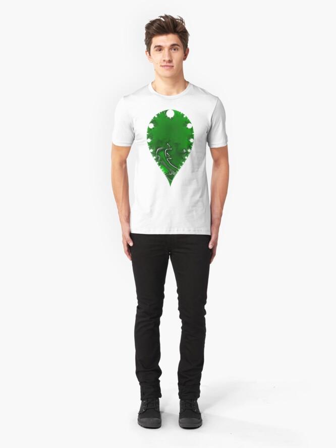 Alternate view of Swirling Verdant  Slim Fit T-Shirt