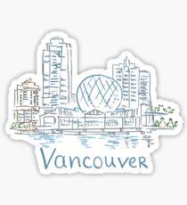 Vancouver Panorama Sticker