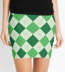 Argyle - Green / Cream Mini Skirt