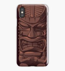 Wooden Tiki Statue Totem Sculpture iPhone  Case iPhone Case/Skin