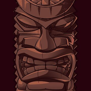 Wooden Tiki Statue Totem Sculpture iPhone  Case by CroDesign