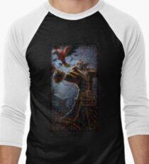 Swain Mosaic Portrait 3 Men's Baseball ¾ T-Shirt