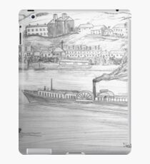 My Pencil Drawing of a Paddle Steamer on the Danube iPad Case/Skin