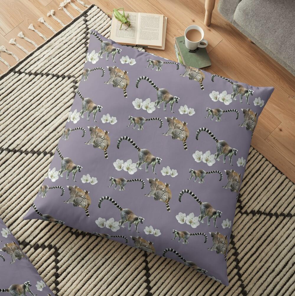 Lemur love Floor Pillow