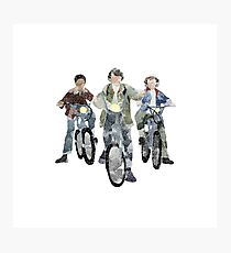 Stranger Things Season 1 Mike, Lucas, and Dustin Photographic Print
