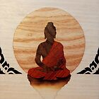 Buddha wooden marquetry design art by Andulino