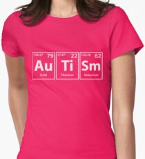 Autism (Au-Ti-Sm) Periodic Elements Spelling Women's Fitted T-Shirt