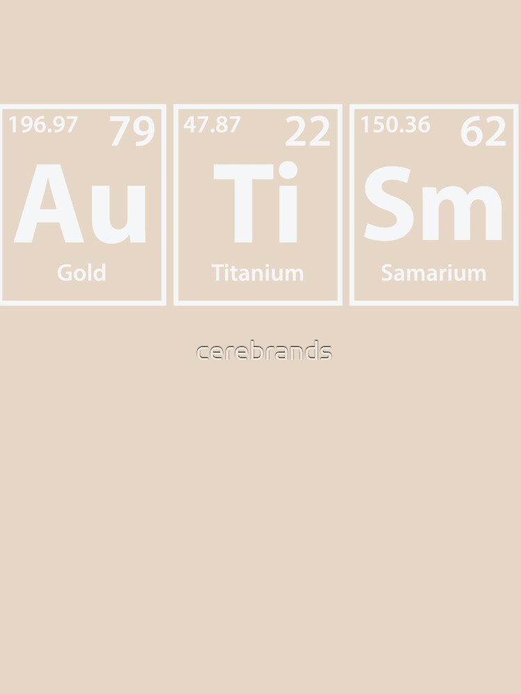 autism au ti sm periodic elements spelling womens relaxed fit - Periodic Table Autistic