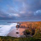 Bedruthan steps Cornwall. by eddiej