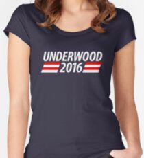 Underwood 2016 shirt campaign poster mug Women's Fitted Scoop T-Shirt