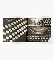 Vintage Typewriter Collage Poster