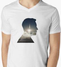 Elon Musk Launch Silhouette Men's V-Neck T-Shirt