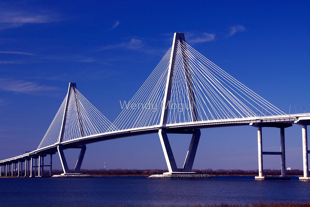 Quot Cooper River Bridge Quot By Wendy Mogul Redbubble