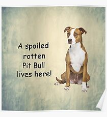 A Spoiled Rotten Pit Bull Lives here Poster