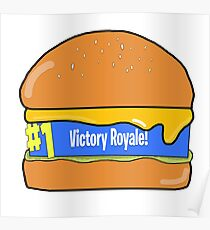 FortNite - Victory Royal! With Cheese Poster