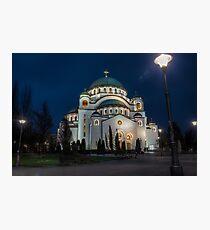Temple of Saint Sava Photographic Print