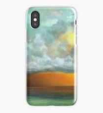 Cloudy Over a Green Sea iPhone Case/Skin
