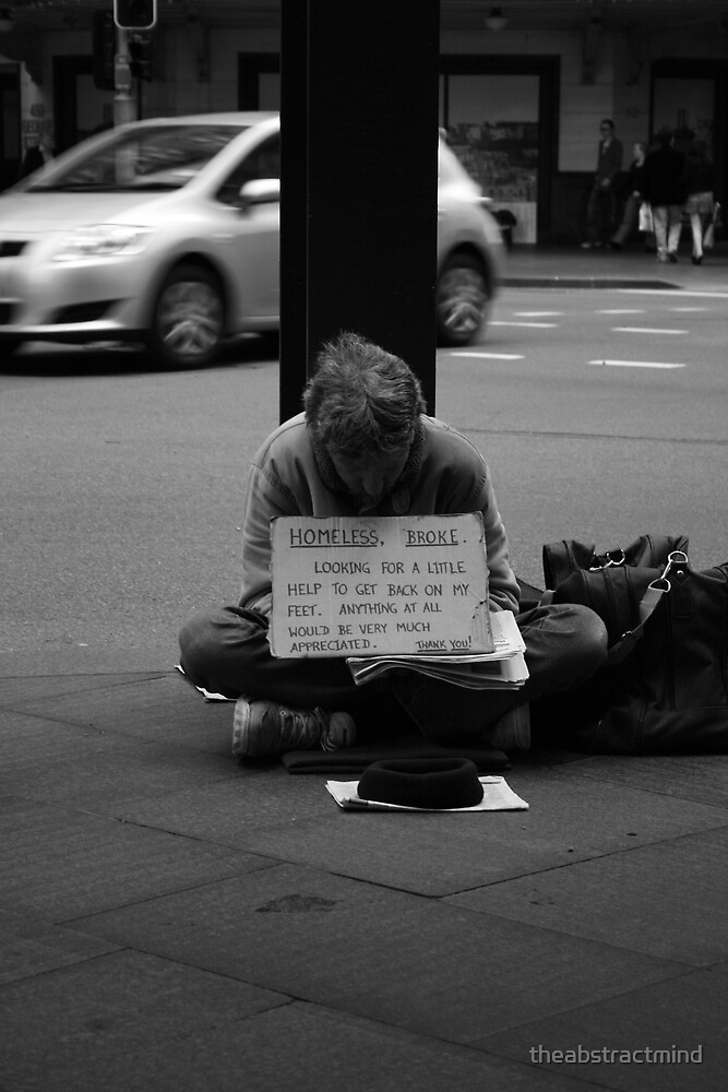 Homeless, Broke by theabstractmind