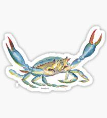 Bunte blaue Krabbe Sticker