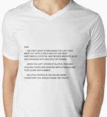 Sammi Schatz Brief T-Shirt mit V-Ausschnitt