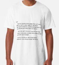 Sammi Sweetheart Letter Long T-Shirt