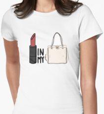 912f18ed14e9 lipstick in my Valentino white bag  Women s Fitted T-Shirt