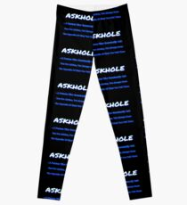 ASKHOLE BLUE Leggings