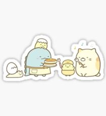 Sumikkogurashi - tokage and cat cookout party Sticker