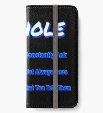 ASKHOLE BLUE iPhone Wallet/Case/Skin