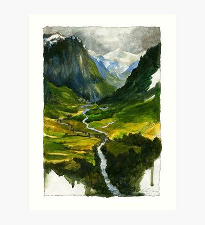 The Hidden Valley Art Print