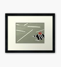 Silly Road Framed Print
