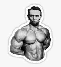 Abe muscles  Sticker