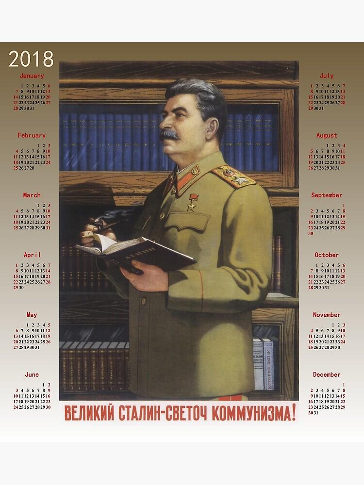 Calendario 1949.Cartel Sovietico 2018 Del Calendario 1949 Poster