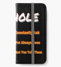 ASKHOLE ORANGE iPhone Wallet/Case/Skin
