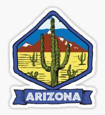 ARIZONA VINTAGE DESERT CACTUS TRAVEL MOUNTAINS SAGUARO GRAND CANYON PHOENIX TUCSON YUMA Sticker