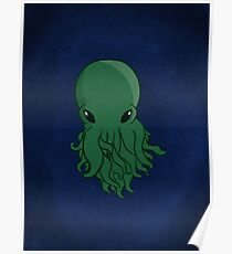 Cthulhu Head  Poster