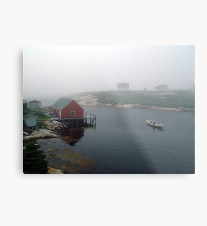 Foggy Day in Peggy's Cove (1) Metal Print