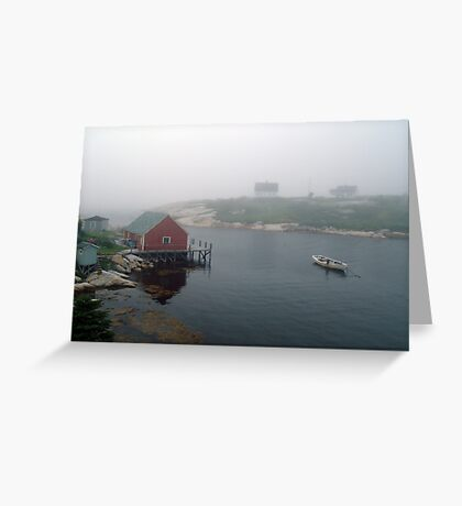 Foggy Day in Peggy's Cove (1) Greeting Card