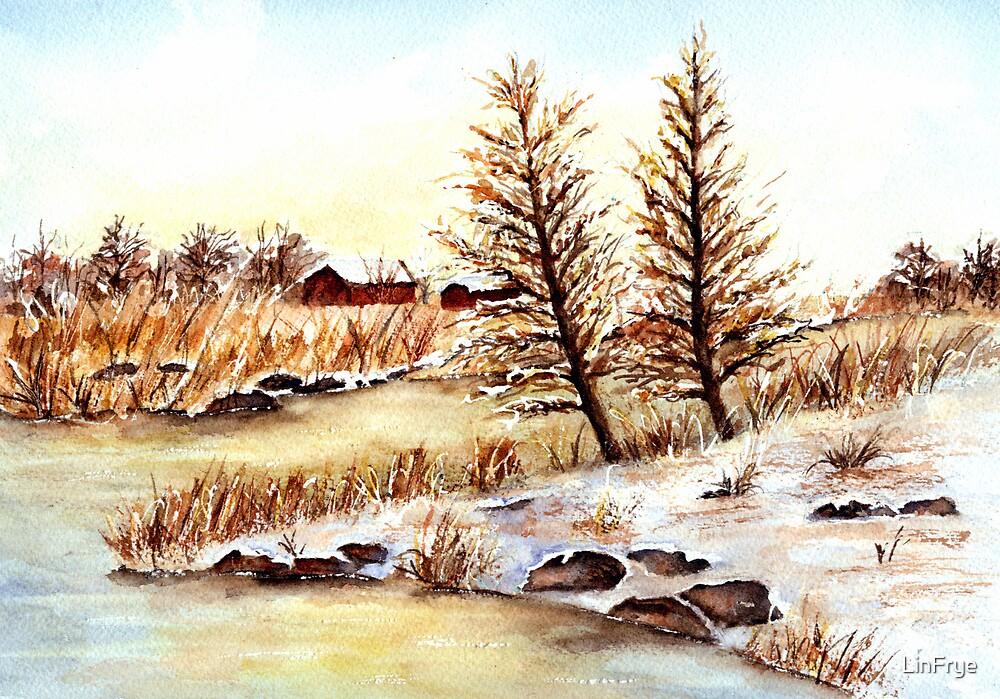 Winter Snowscape by LinFrye