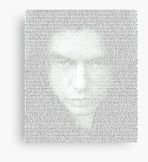 The Room Script in Full Canvas Print