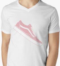 Vans Old Skool Low Top Pink / White Men's V-Neck T-Shirt