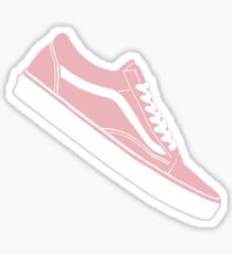 Vans Old Skool Low Top Pink / White Sticker