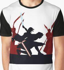Kylo Ren and Rey vs. Snoke's Praetorian Guard Graphic T-Shirt