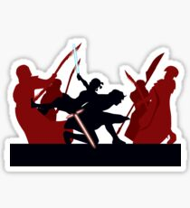 Kylo Ren and Rey vs. Snoke's Praetorian Guard Sticker