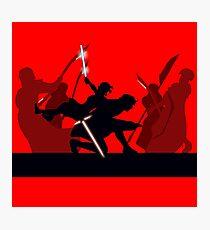 Kylo Ren and Rey vs. Snoke's Praetorian Guard Photographic Print