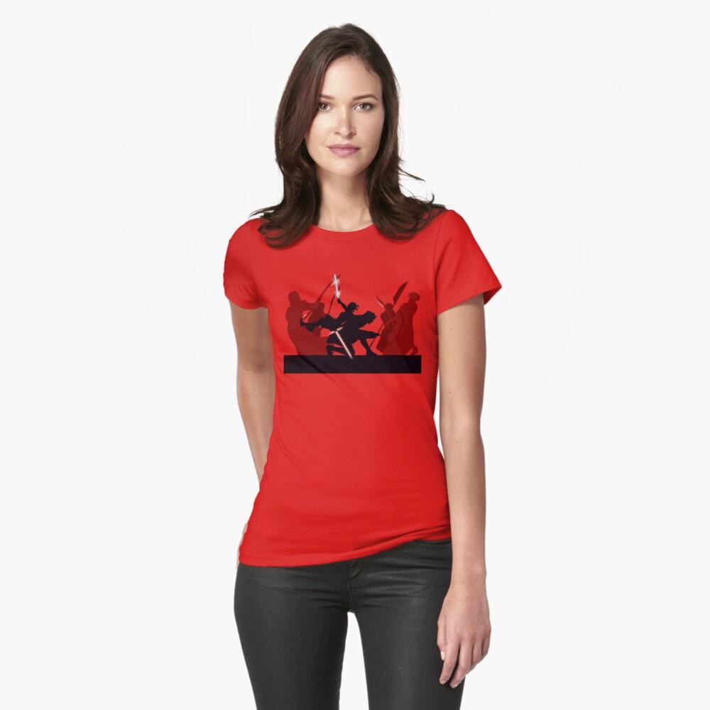 Kylo Ren and Rey vs. Snoke's Praetorian Guard Womens T-Shirt Front