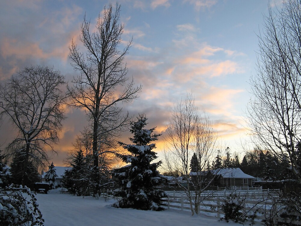 Sunset Snow by Corey Bigler