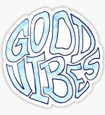 Good Vibes Blau Marmoriert Sticker